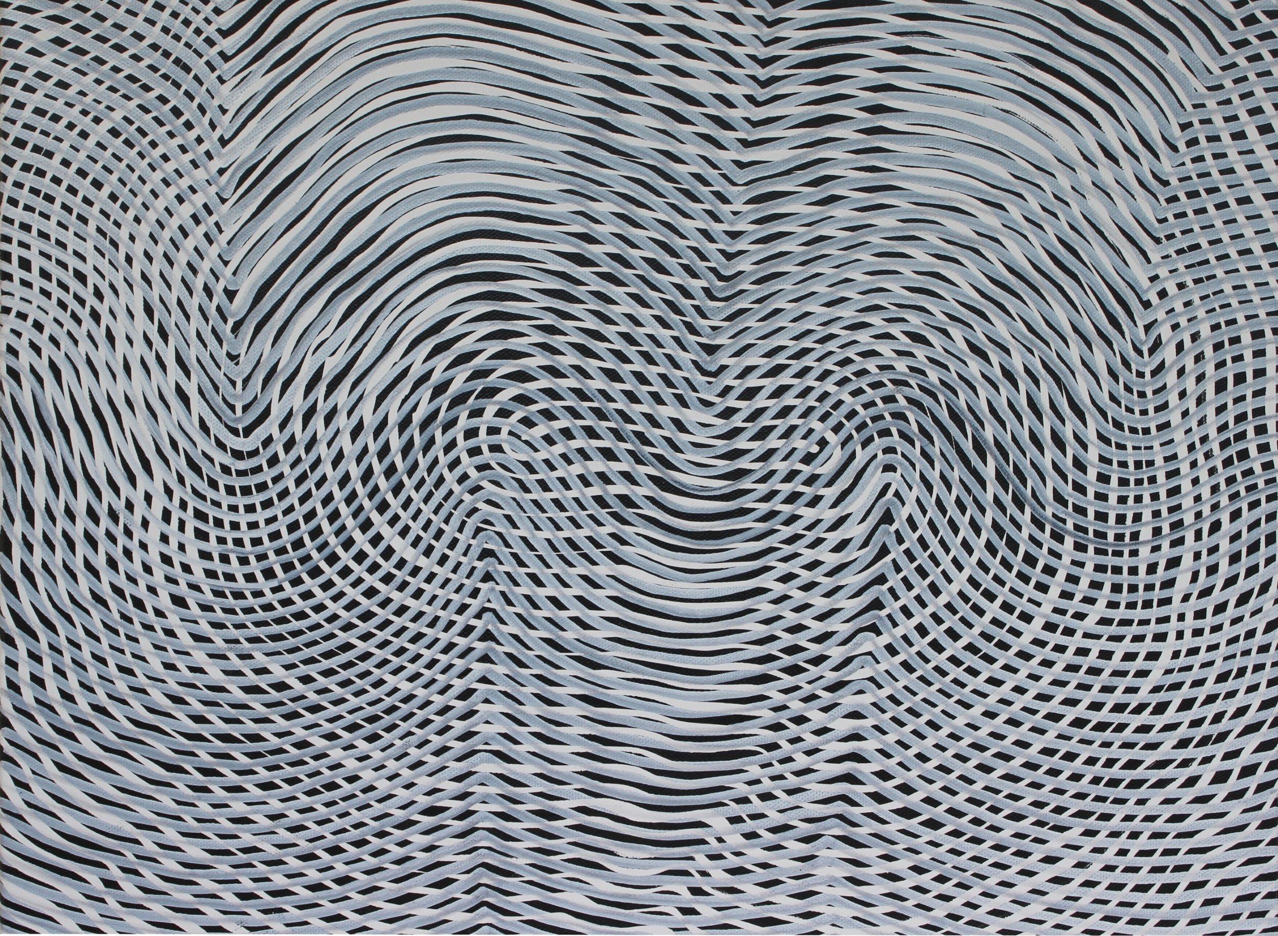Lines 64  Varnish on Canvas  30cm x 40cm sold