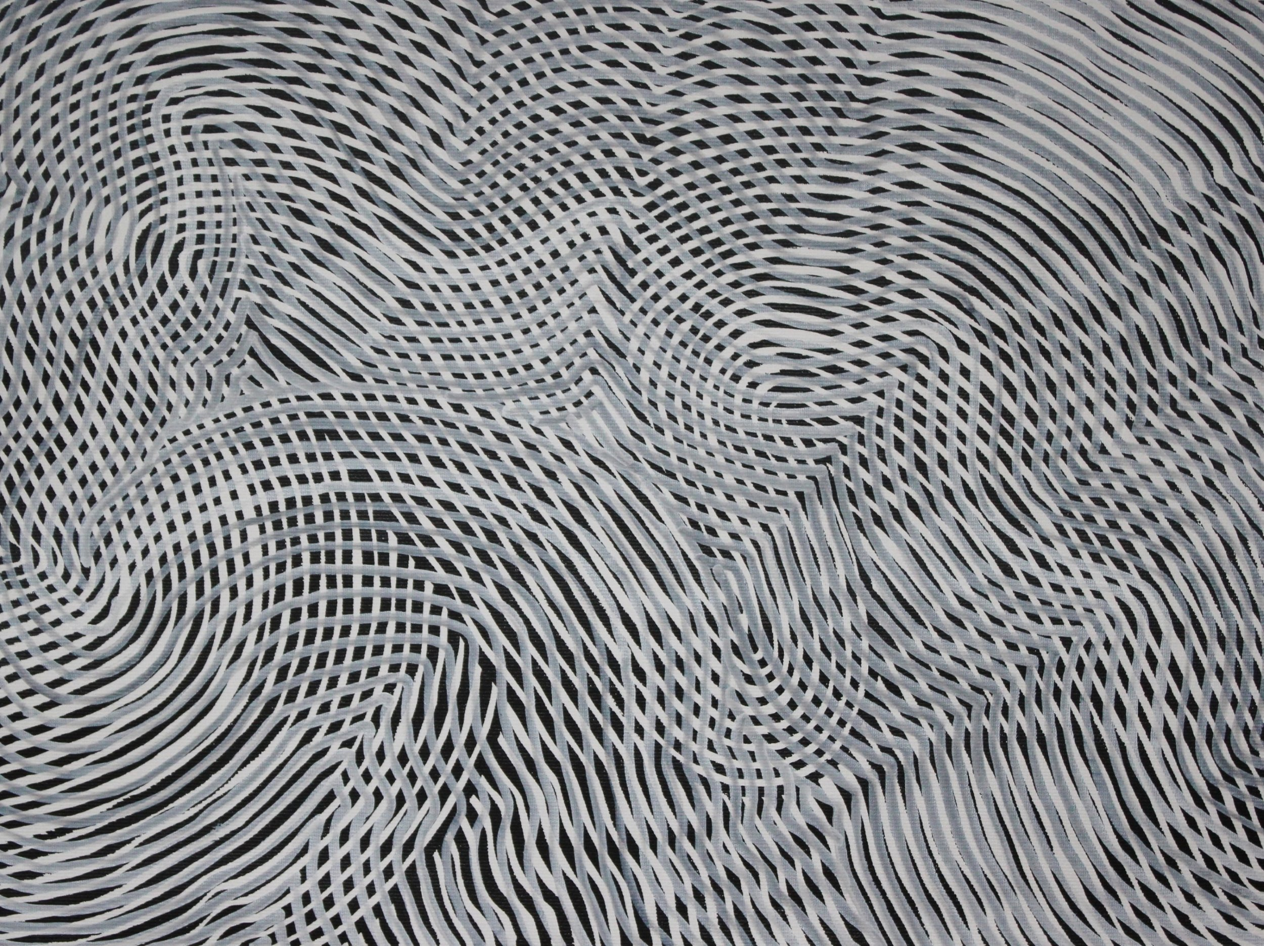 Lines 51  Varnish on Canvas  30cm x 40cm