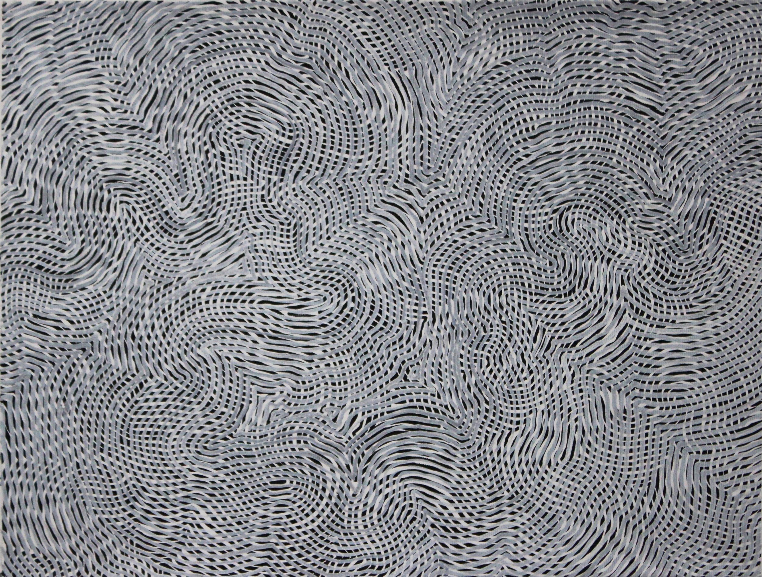 Lines 40  Varnish on Canvas  30cm x 40cm