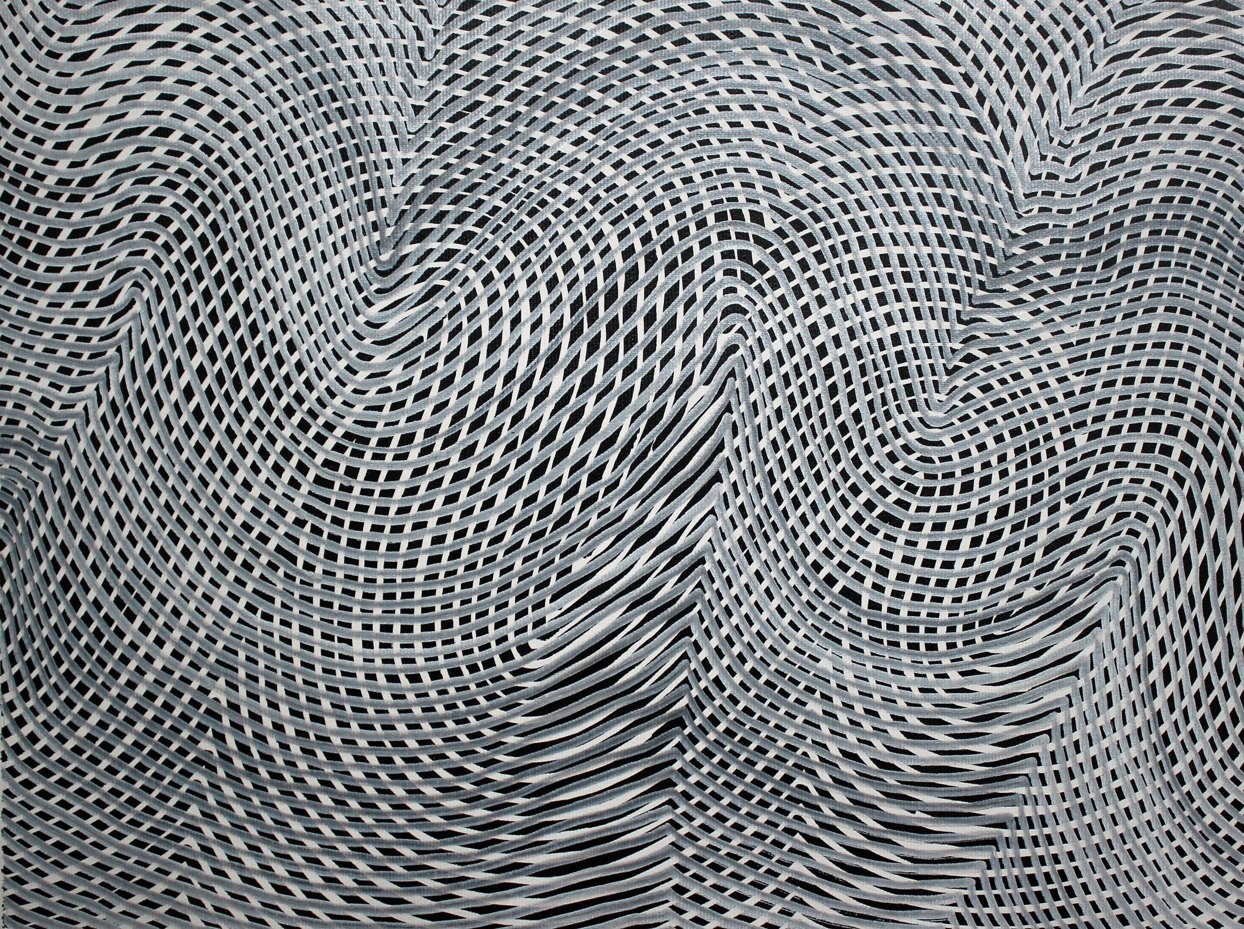 Lines 37  Varnish on Canvas  30cm x 40cm sold