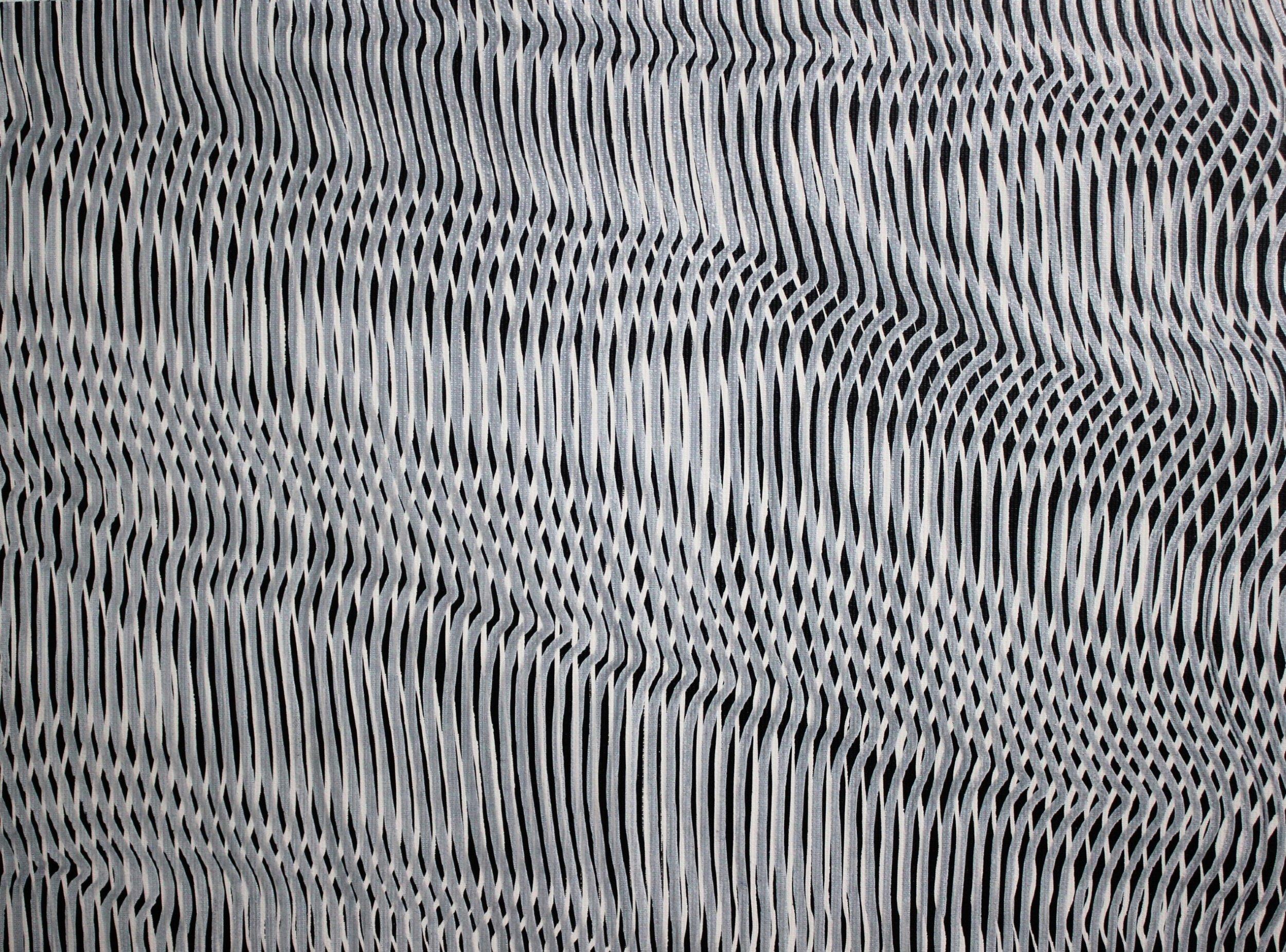 Lines 36  Varnish on Canvas  30cm x 40cm