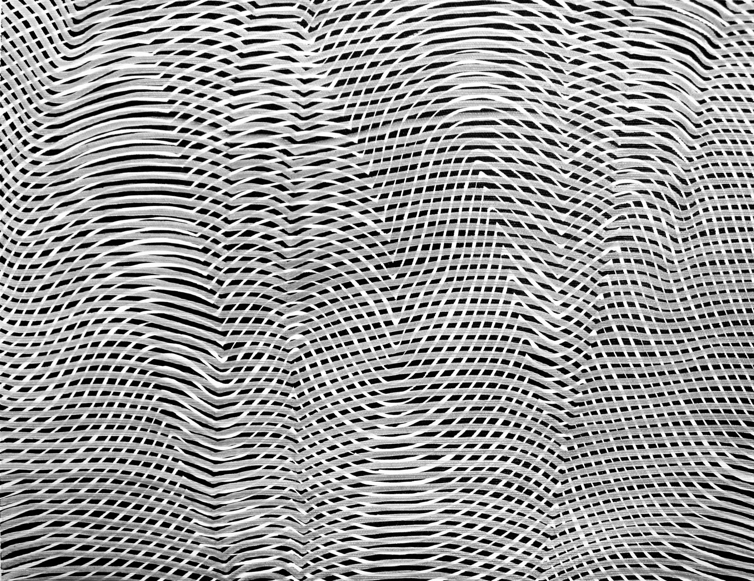 Lines 28  Varnish on Canvas  30cm x 40cm