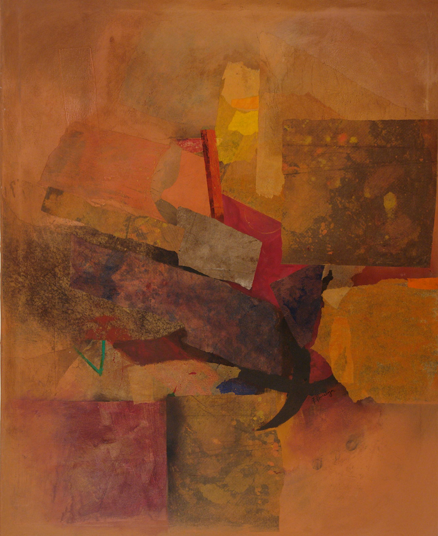 Fernando Pomolaza, Untitled, 60 x 48 in., mixed media collag on canvas, $15,000.jpg