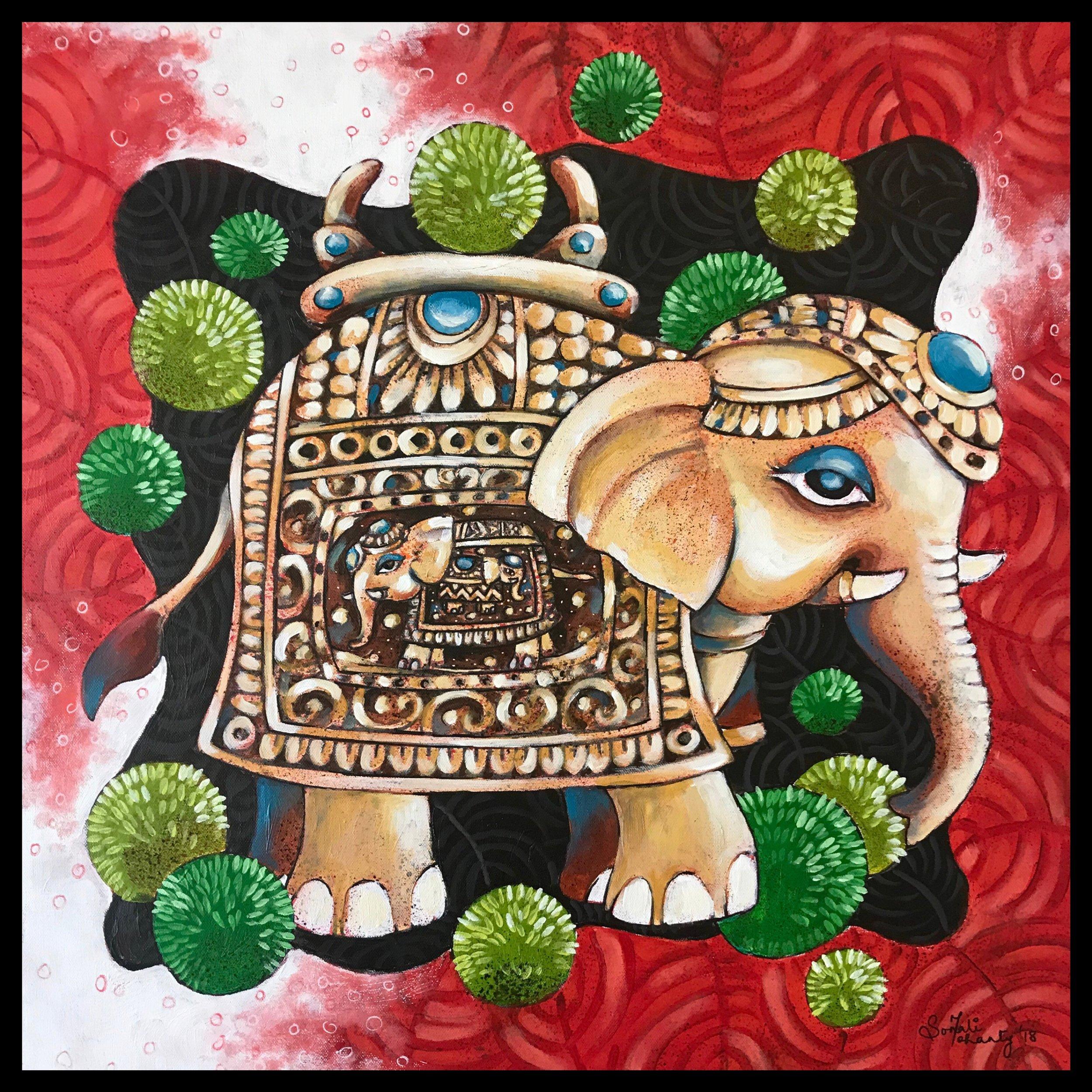 Elaborate Elephants_24inX24in.JPG