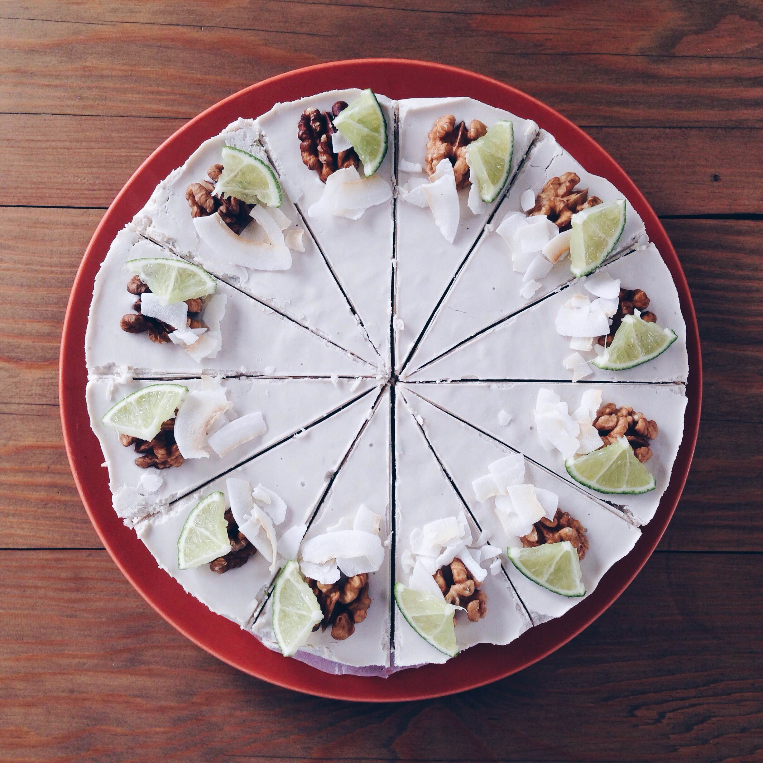 Healthy Raw Vegan Coconut & Lime Cheesecake