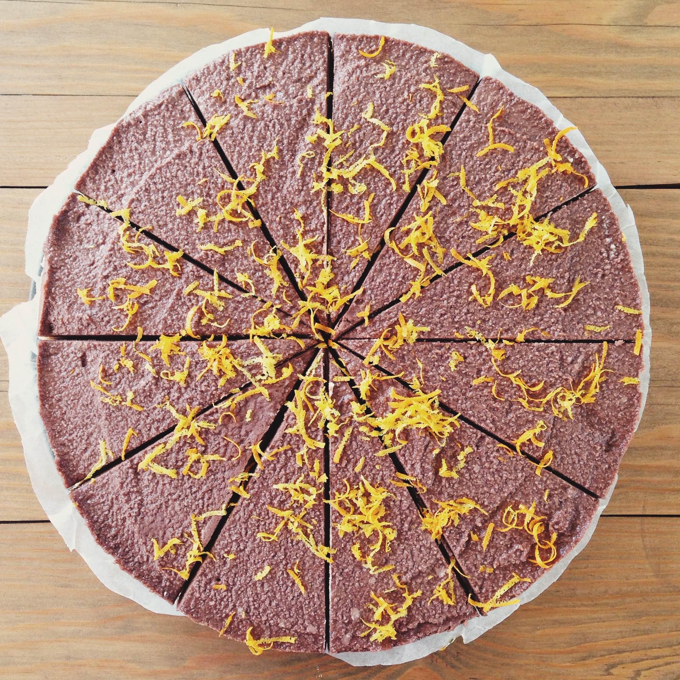 Healthy Raw Vegan Chocolate & Orange Cheesecake