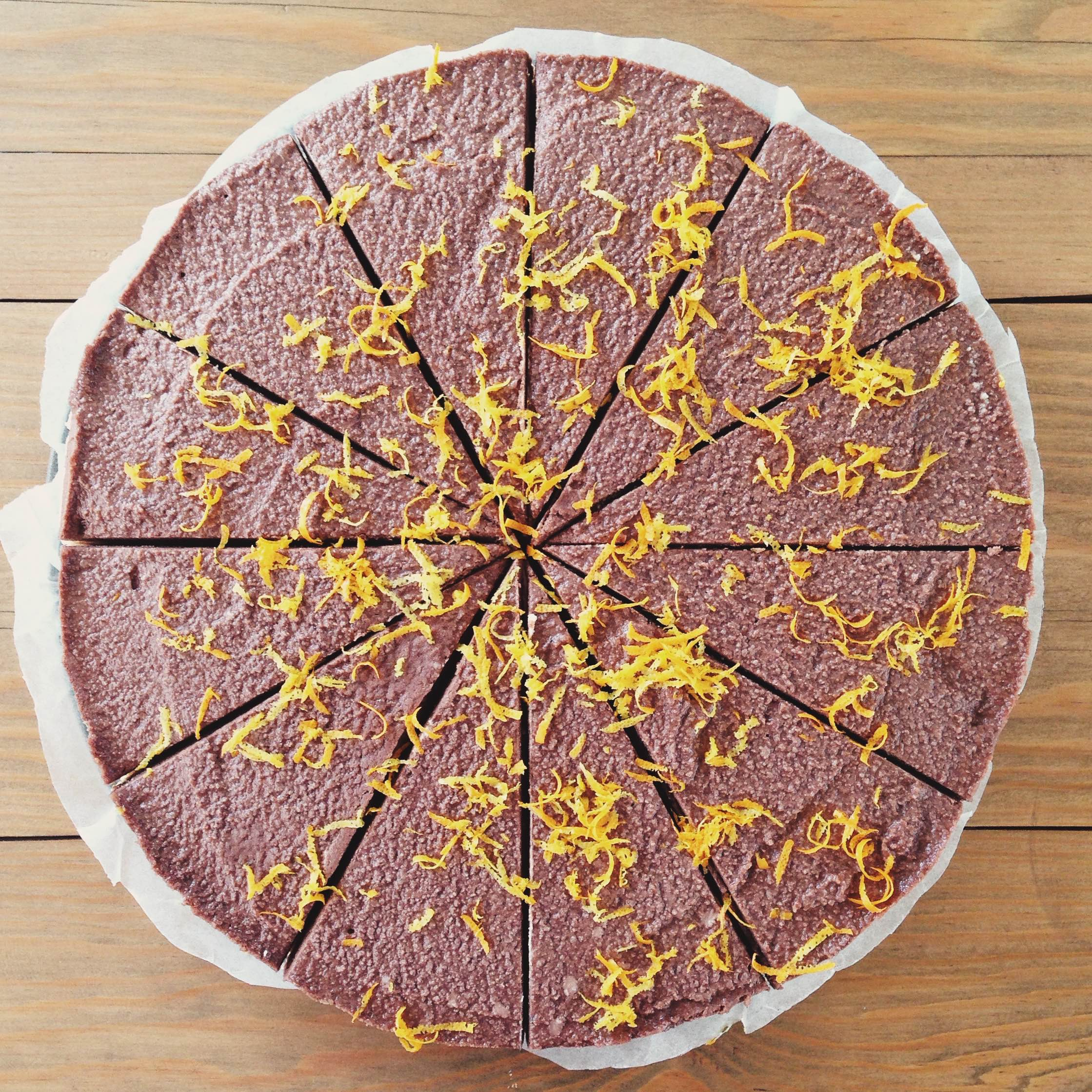 Cheesecake Vegan de Chocolate & Laranja