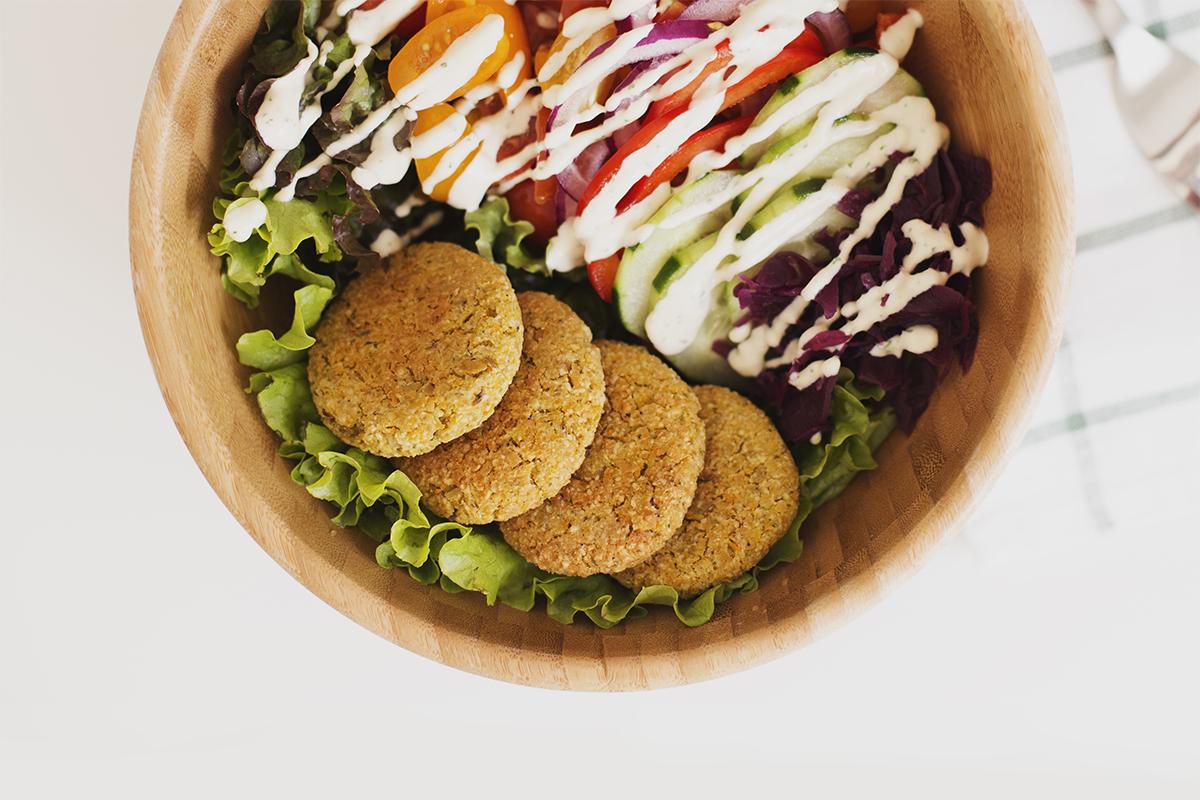 Carrot & Lemon Baked Falafel Salad