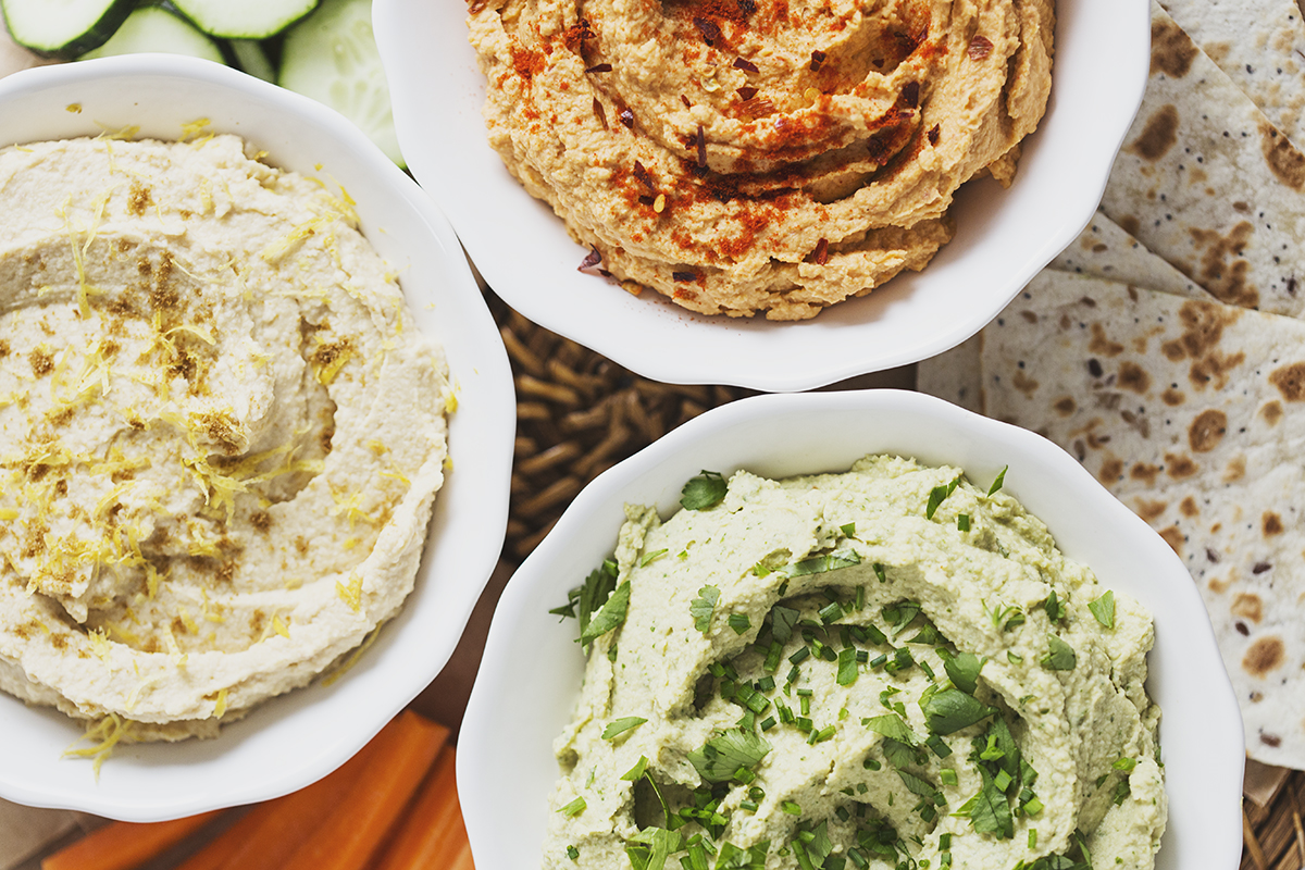 A t  rio of delicious, healthy and vegan Hummus recipes