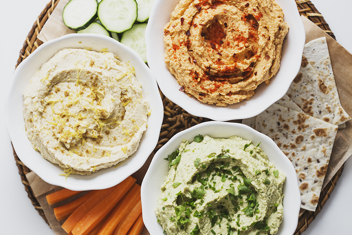 A trio of delicious, healthy and vegan Hummus recipes