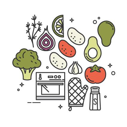 Receita Vegan e Saudável de Batatas no Forno, Brócolos a Vapor & Guacamole