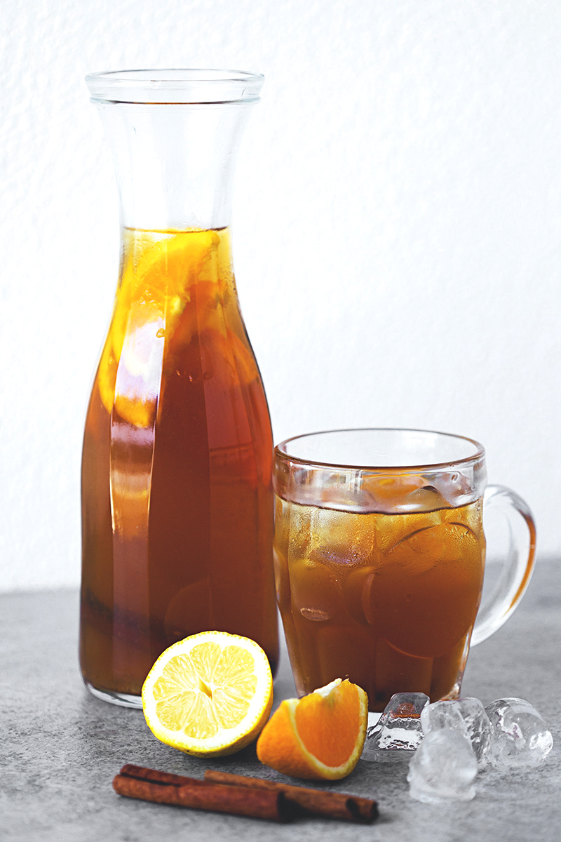 Healthy   Citrus & Cinnamon Iced Tea