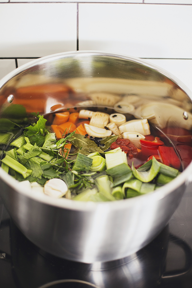 Healthy Homemade Vegetable Broth Recipe