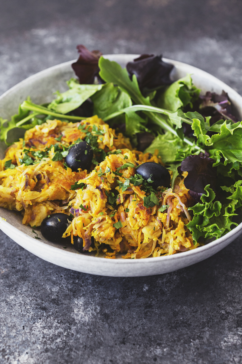 Healthy Vegan Portuguese Veggie Hash Recipe for Lunch