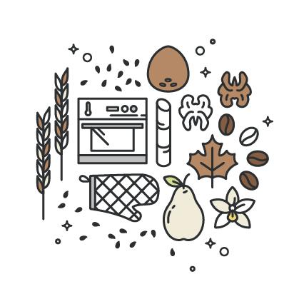 Bolo de Café com cubos de pêra e uma camada crocante de topping de Nozes. Receita 100% vegan, deliciosa e muito fácil de fazer.