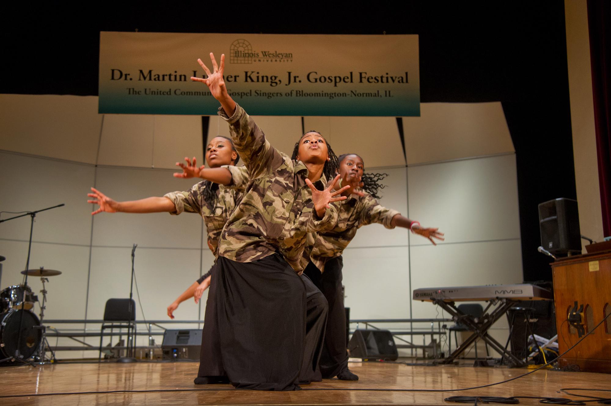 The Mount Pisgah Praise Dancers performed at the 2013 Gospel Festival