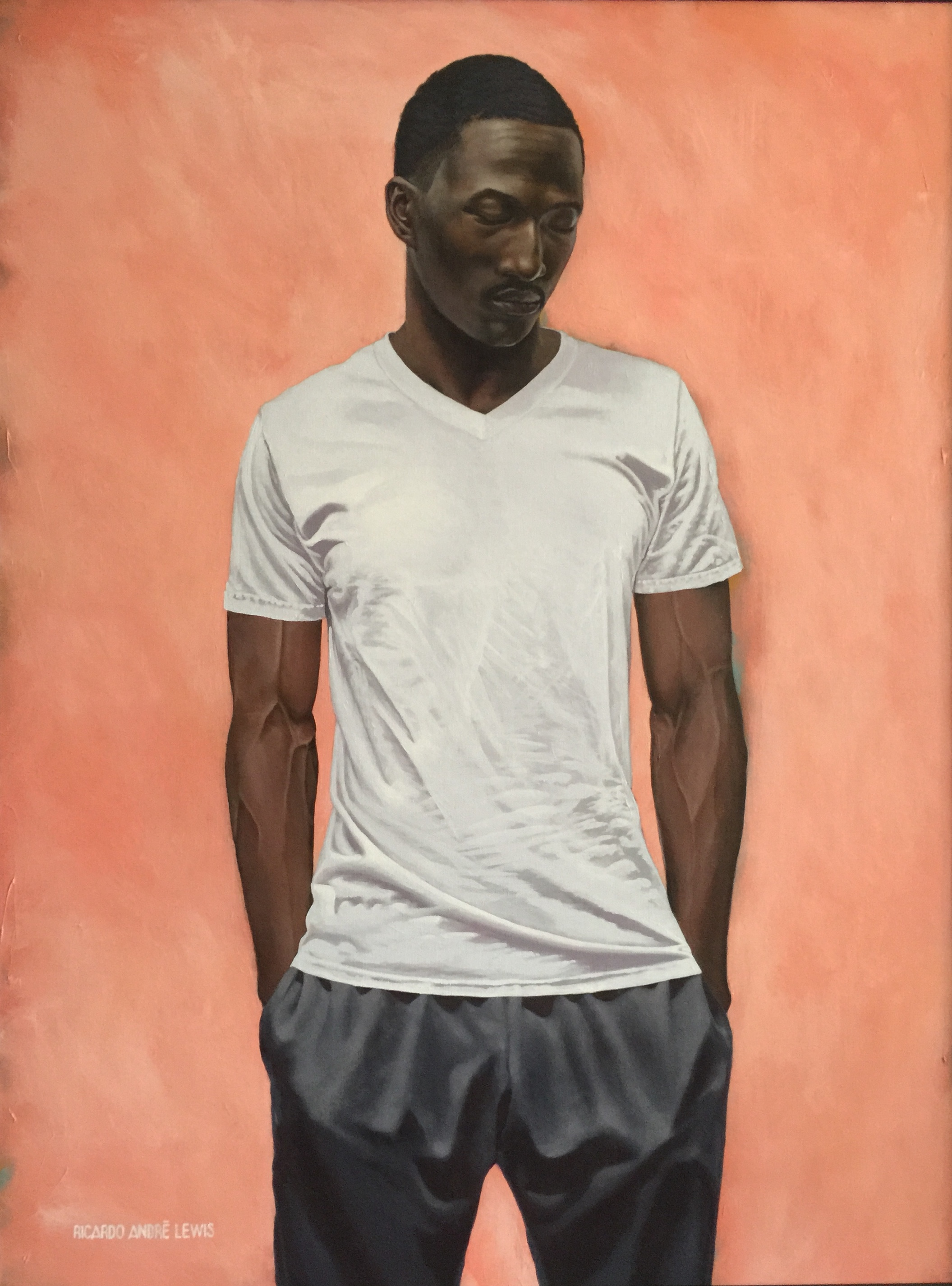 Jamol, one of Rick Lewis' series of African-American male portraits