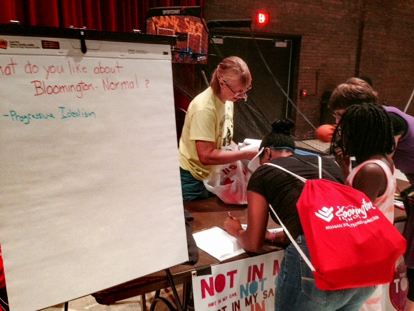 NIOT:B/N at Saturday's Cultural Festival, gathering youth input on the state of Bloomington-Normal.