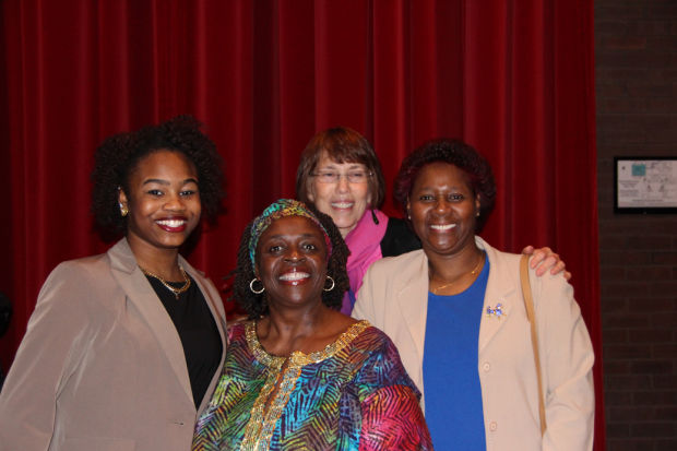 Mary Aplington, third from left, at the 2015 MLK Luncheon.