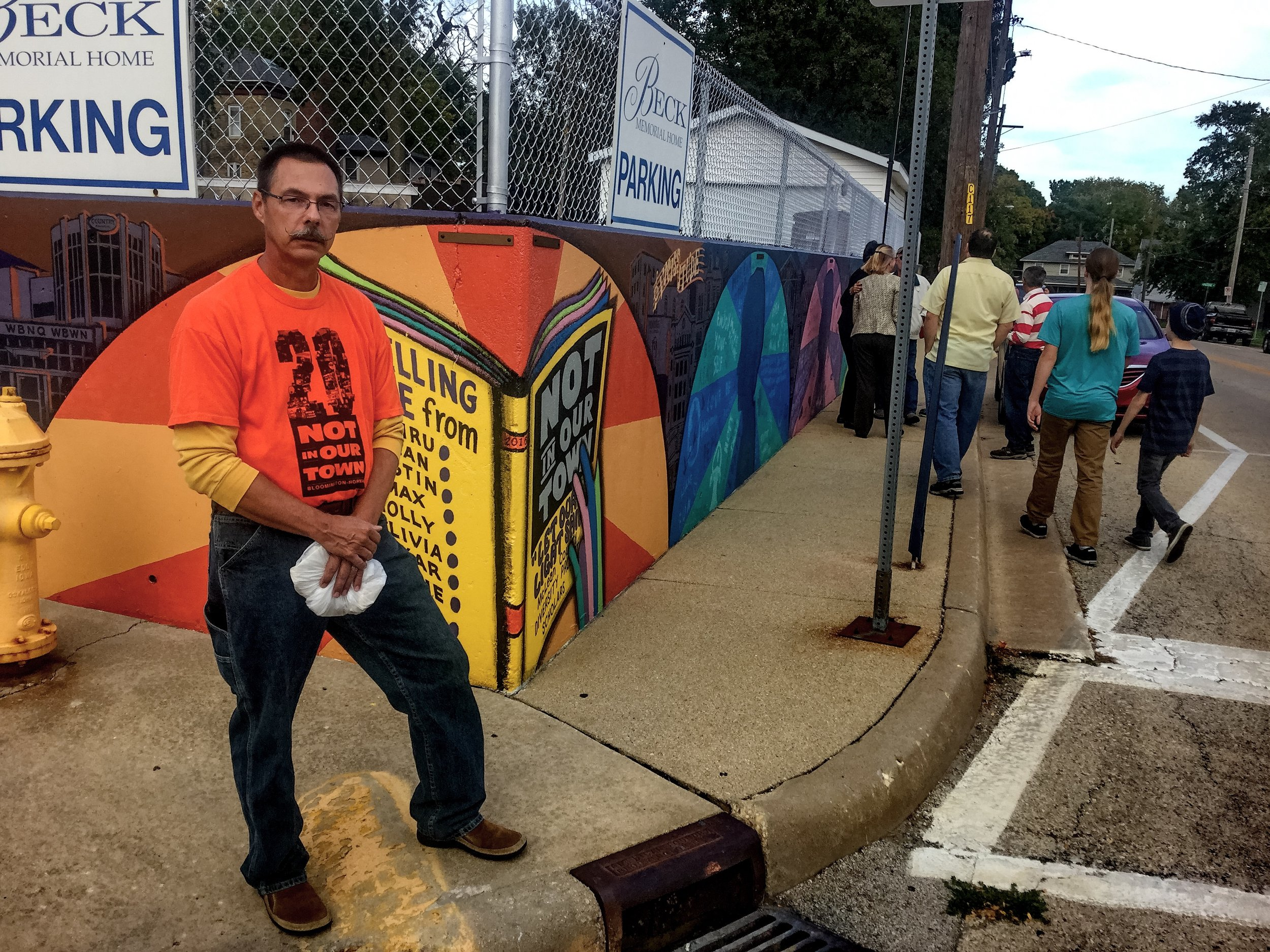 Local artist Vince Bobrosky, who led a McLean County Diversity Project team in painting the Diversity Mural this summer.