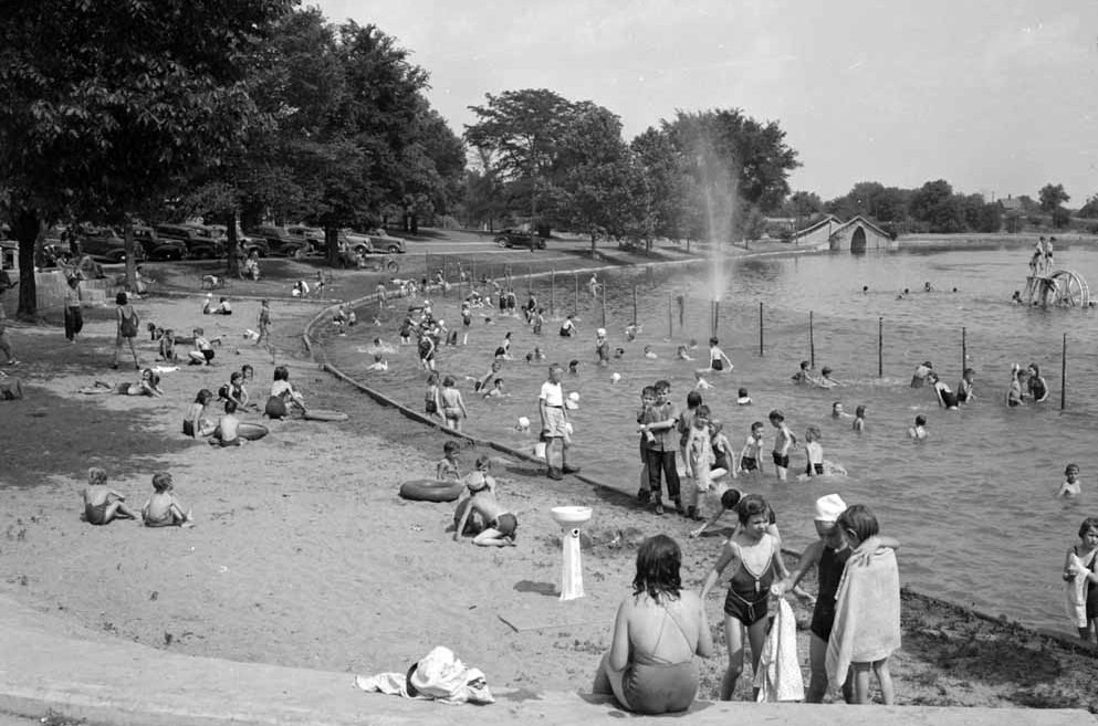 1940: Miller Park's whites-only beach.