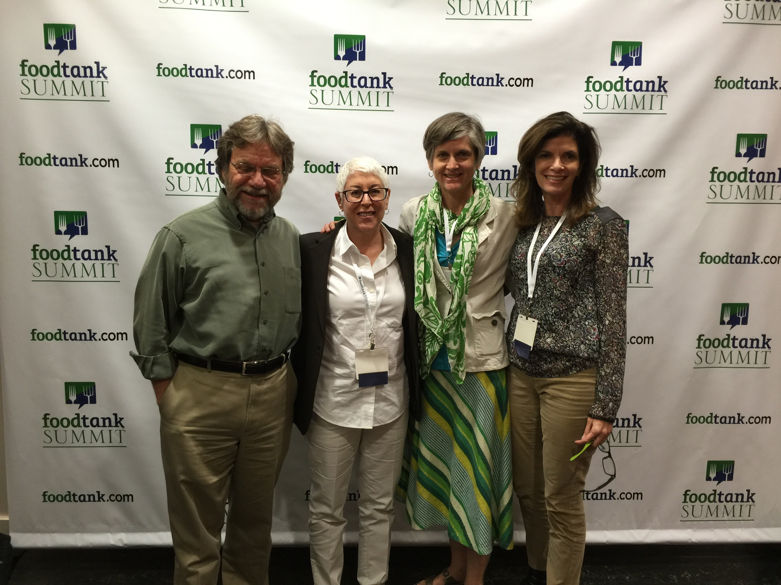 At the Food Tank Summit 2016 in Washington, DC. L to R: Bill Bolling, Food Well Alliance Chairman; Ellen Macht, Food Well Alliance Innovation and Strategy; Alice Rolls, Georgia Organics Executive Director; Bobbi de Winter, Food Well Alliance Executive Director.