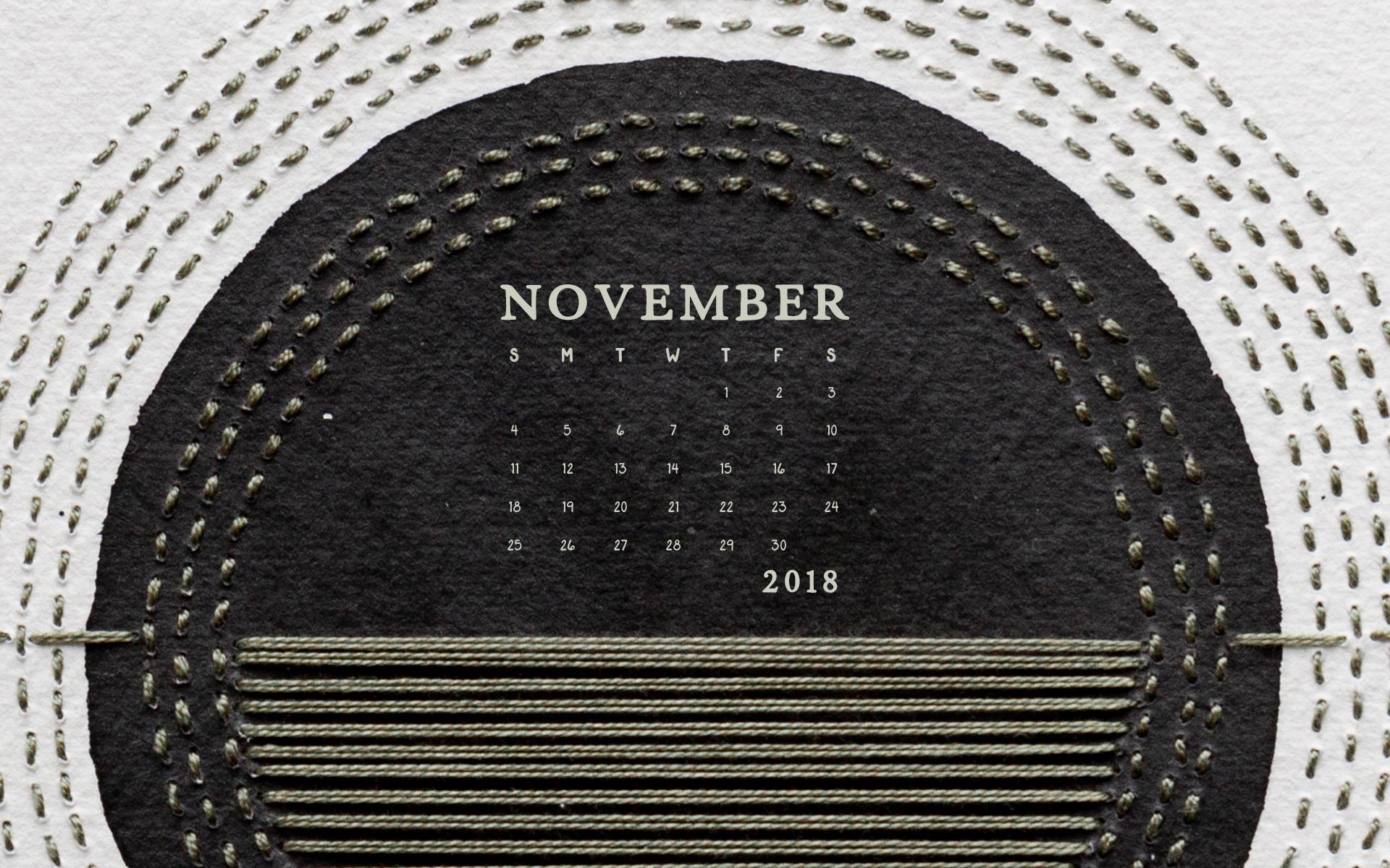 Wallpaper: November 2018 Calendar & Art | Desktop Computer | Britt Fabello
