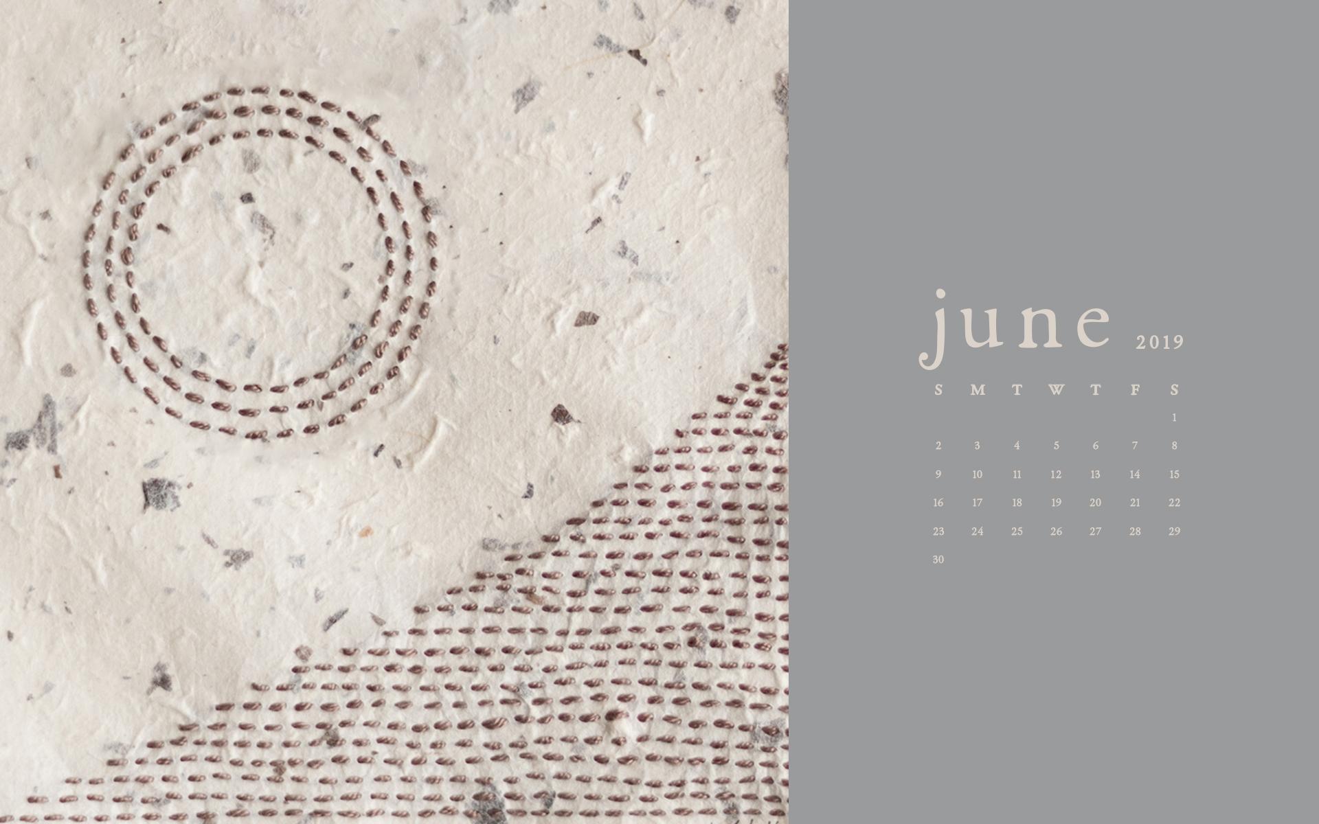 Wallpaper: June 2019 Calendar & Artwork | Desktop Computer | Britt Fabello