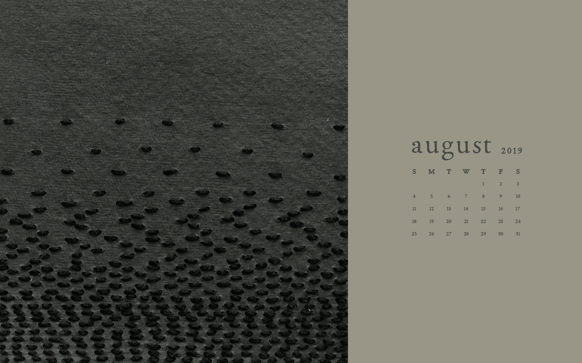 Wallpaper: August 2019 Calendar & Artwork | Computer | Britt Fabello