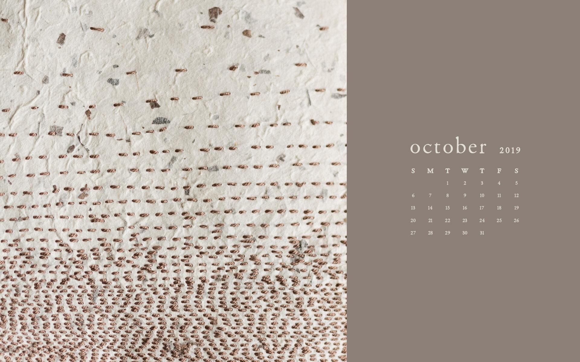 Wallpaper: October 2019 Calendar & Artwork | Computer | Britt Fabello