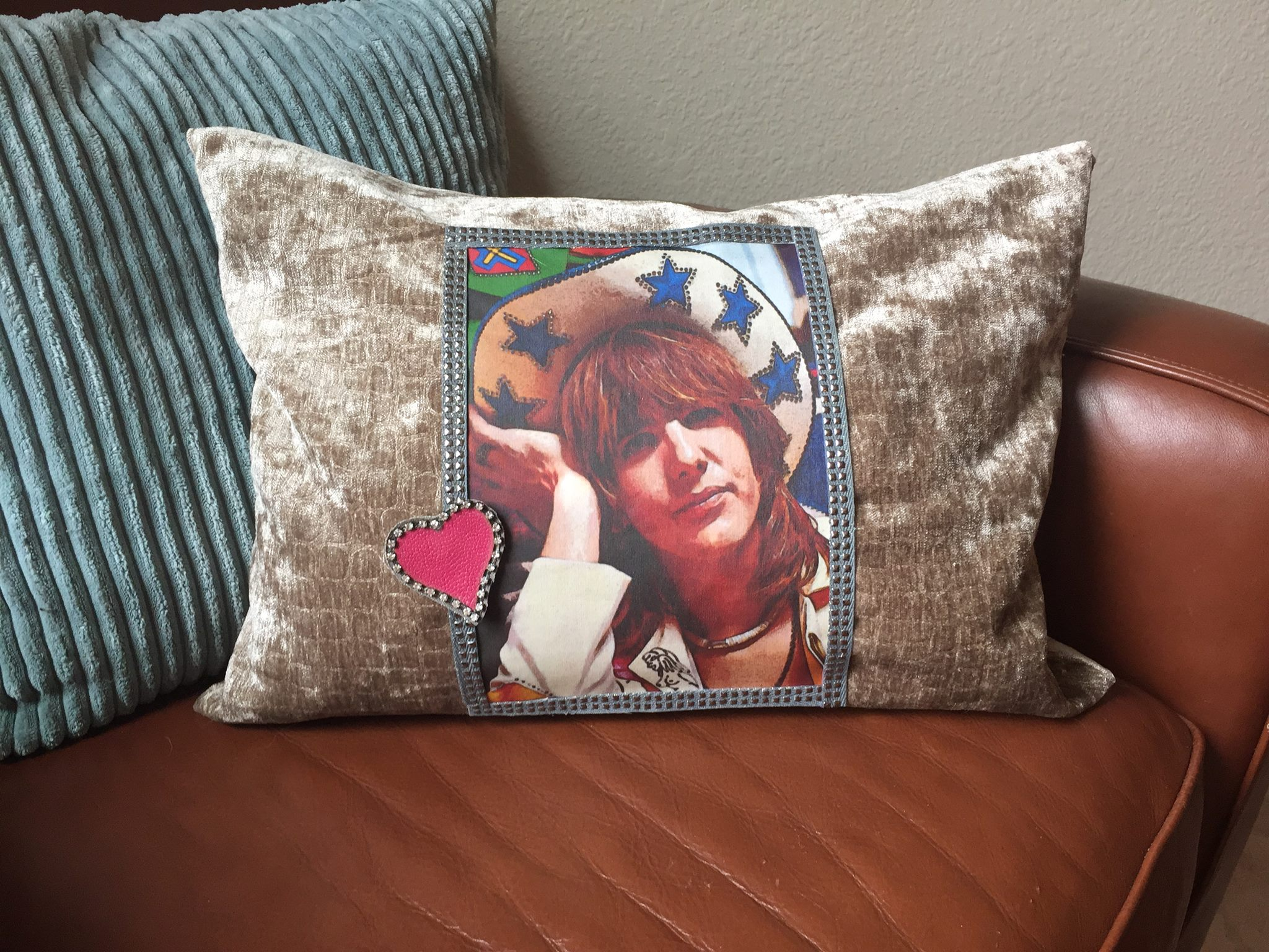 Please note that image is now slightly smaller to better fit the pillow size.
