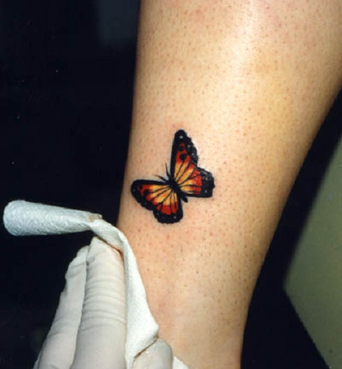 Cute Small Butterfly Tattoo On The Leg.jpg