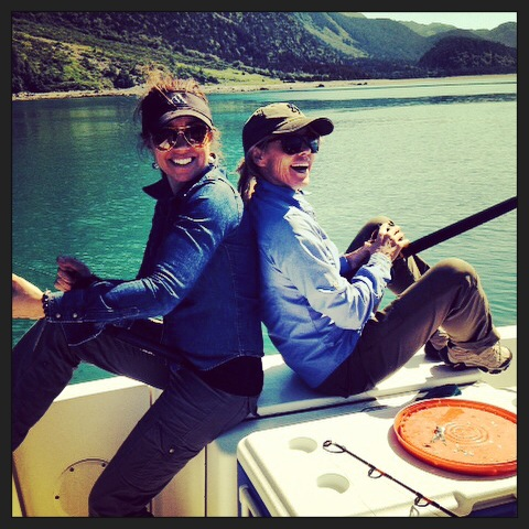 Here is a pic of my buddy and me fishing on a particularly sunny summer day in Haines. Fileted the fish we caught, washed our hands and then headed directly into town for drinks with our husbands. Haines is Heaven on Earth!