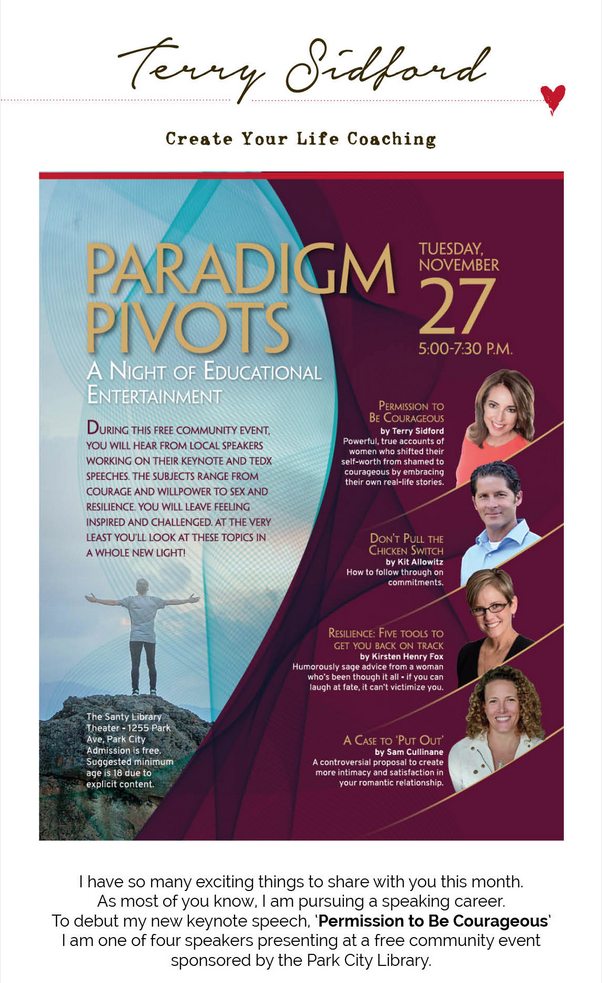 paradigm pivots talk at the park city library