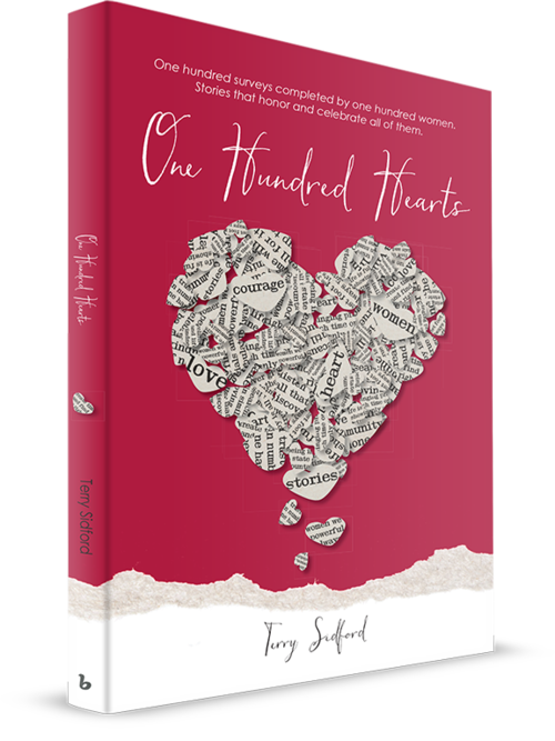 One Hundred Hearts - WOMEN ROCK. If you doubt that, read the stories of ordinary women who found they had extraordinary courage. In the everyday lives of women, challenges such as relationships, money, health, and family often keep us from becoming all we imagine. You will see yourself, your friends, and relatives in these stories and they will inspire you to look deeper and go further than ever before. Before you turn the last page, you will know that YOU rock.Visit OneHundredHearts for Press & Media >>