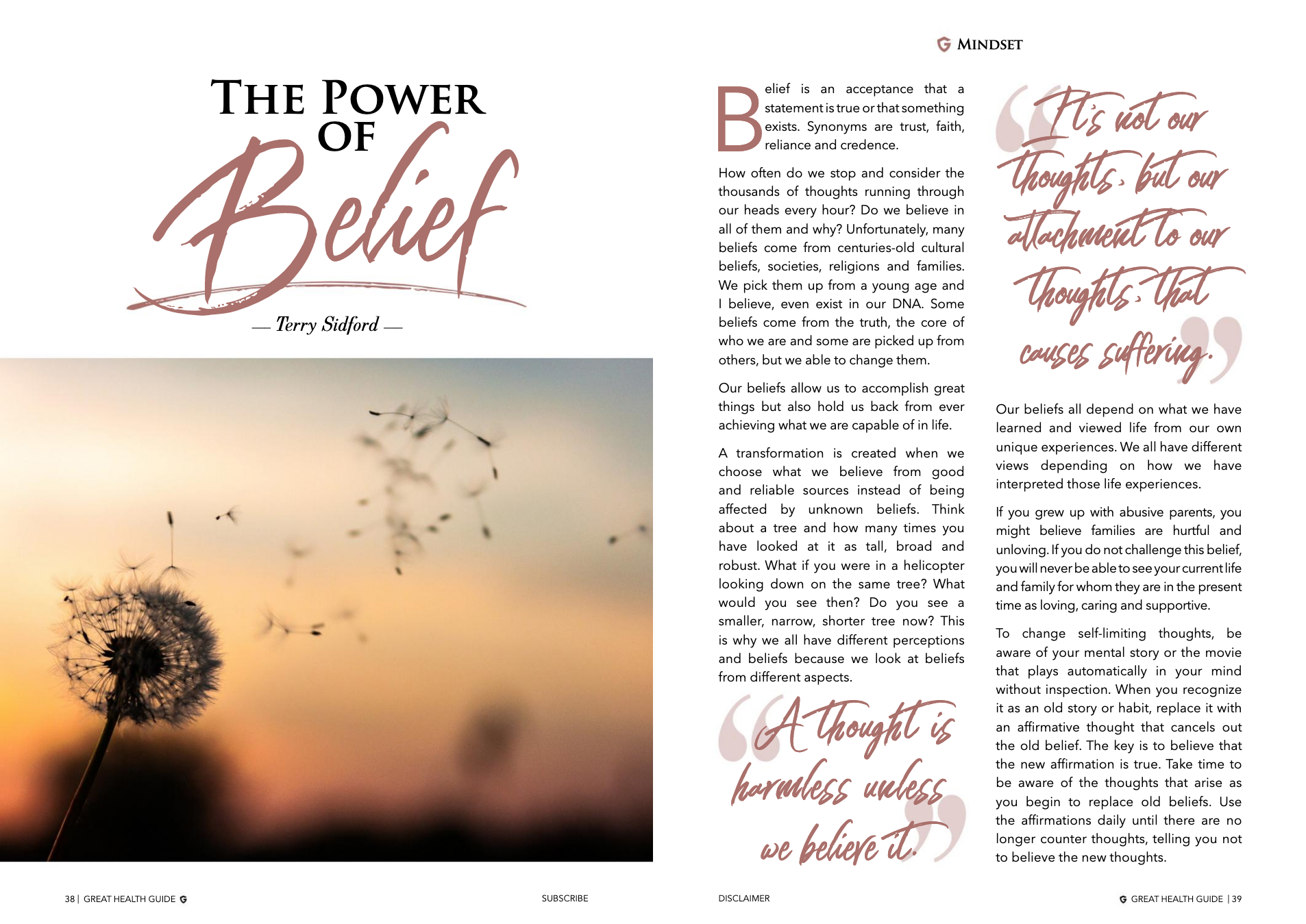 The Power of Belief