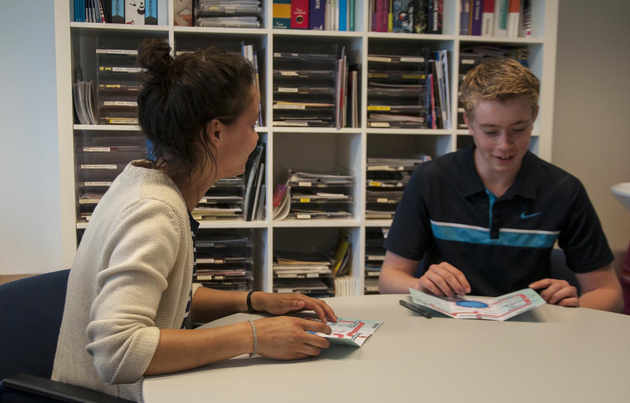 Test-loopbaangesprekken met de Toekomstrouteop het Buitenhout College Almere