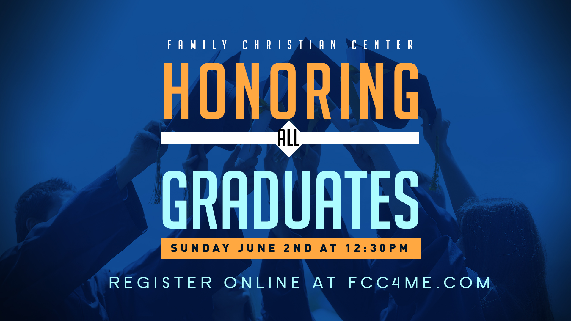 Calling all graduates! We want to honor all high school and college graduates on Sunday June 2nd at the 12:30 service. Please fill out form below and arrive at 11am in the gym.     For all student graduates who want to be honored June 2nd for our 1230pm service. Please fill out the info below.
