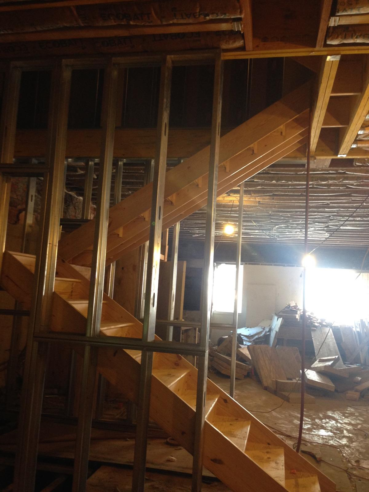 Install of new 2nd to 3rd stairs