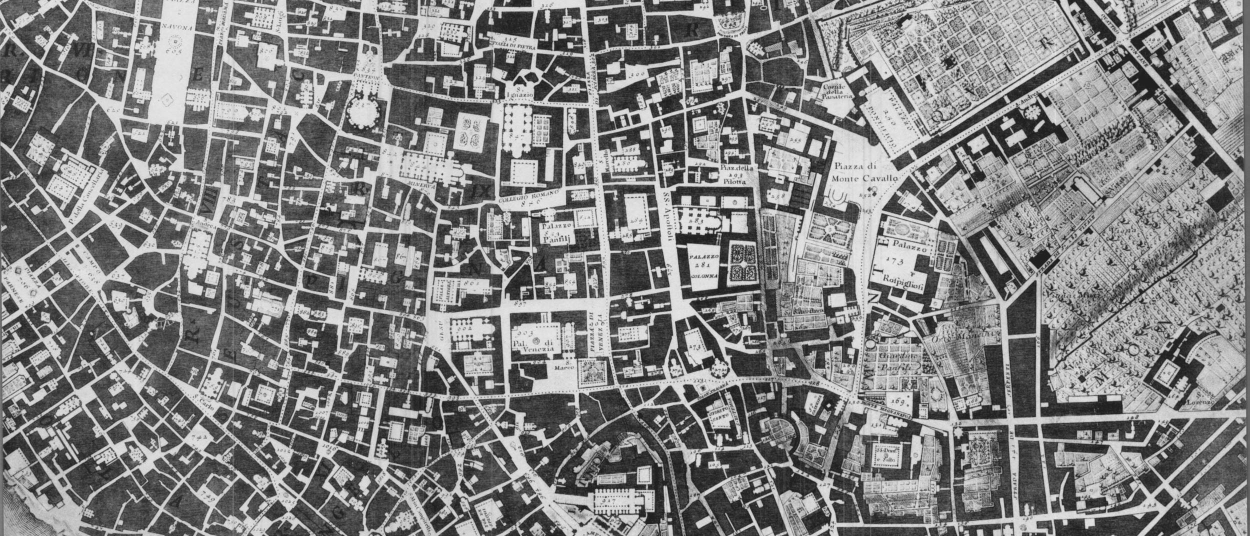 Nolli Tax Map, Rome 1741