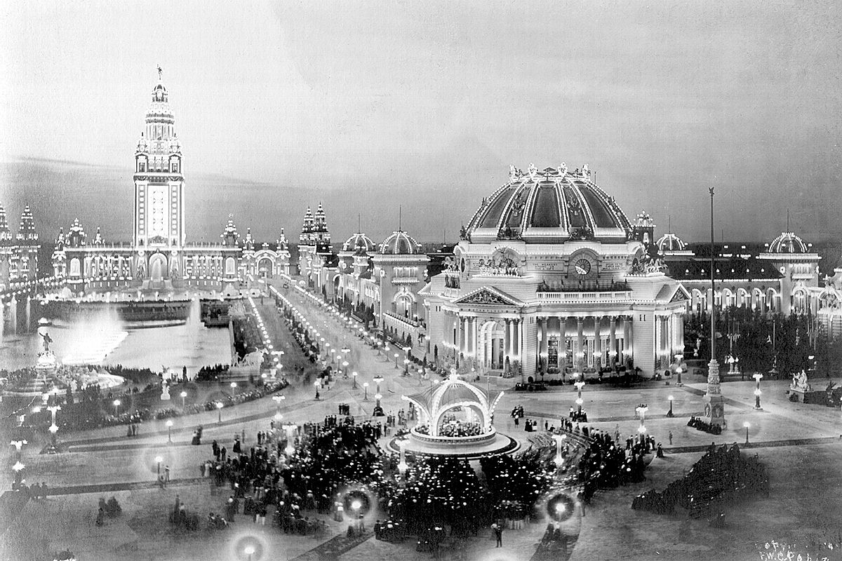 With its access to half the nation's population (40 million) within one day by train, it was chosen to host   a   World's Fair  .