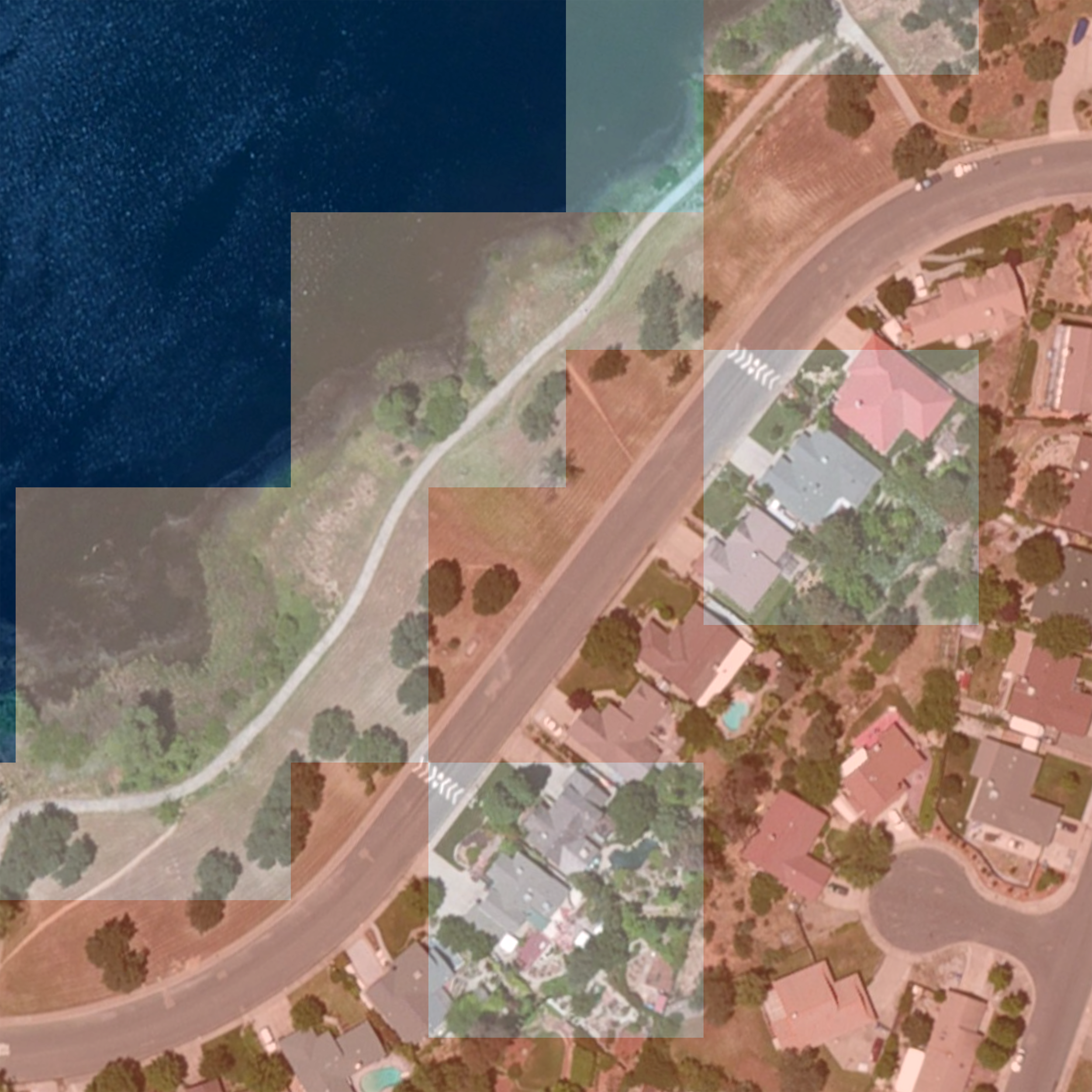 the resolution is tight enough to, more or less, capture the shape of urban development