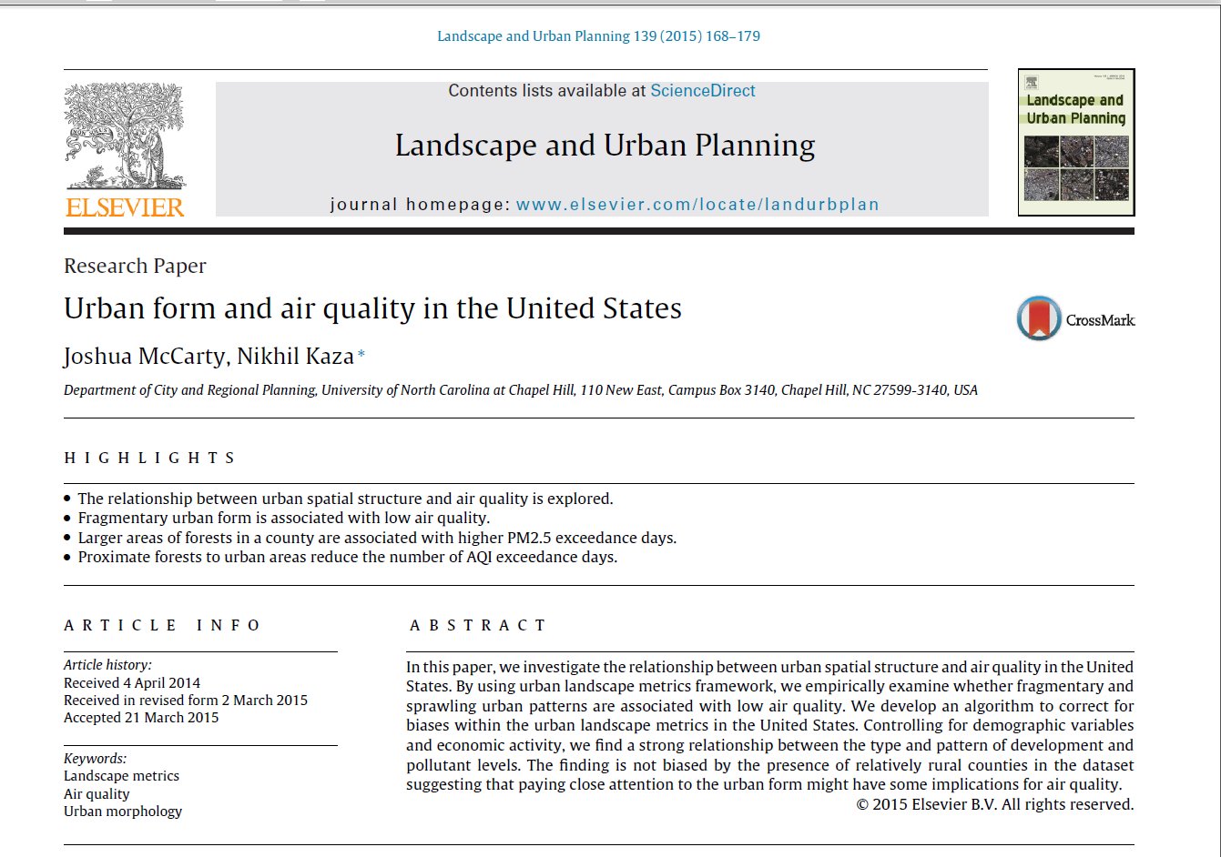 Urban Form and Air Quality in the United States