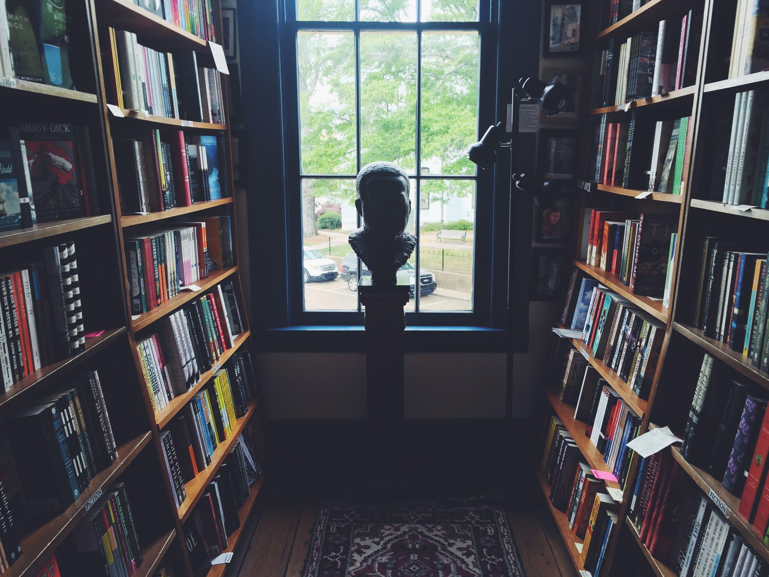 My favorite bookstore in the world,  Square Books in  Oxford, Mississippi.
