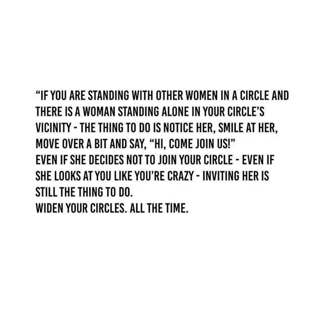 I N V I T E | include ___  We all just want to belong.  So, let's be more generous. ___  #woman #womensupportwomen  #loveher . . . @vanessabarnett 🙌🏽💛