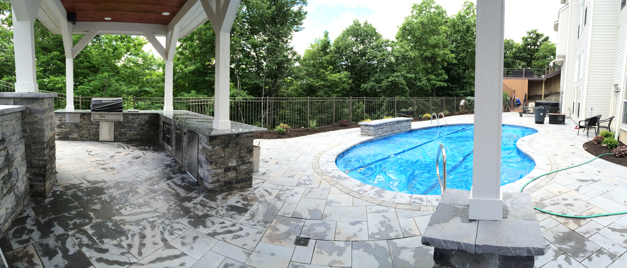 Pool Project with Outdoor Kitchen