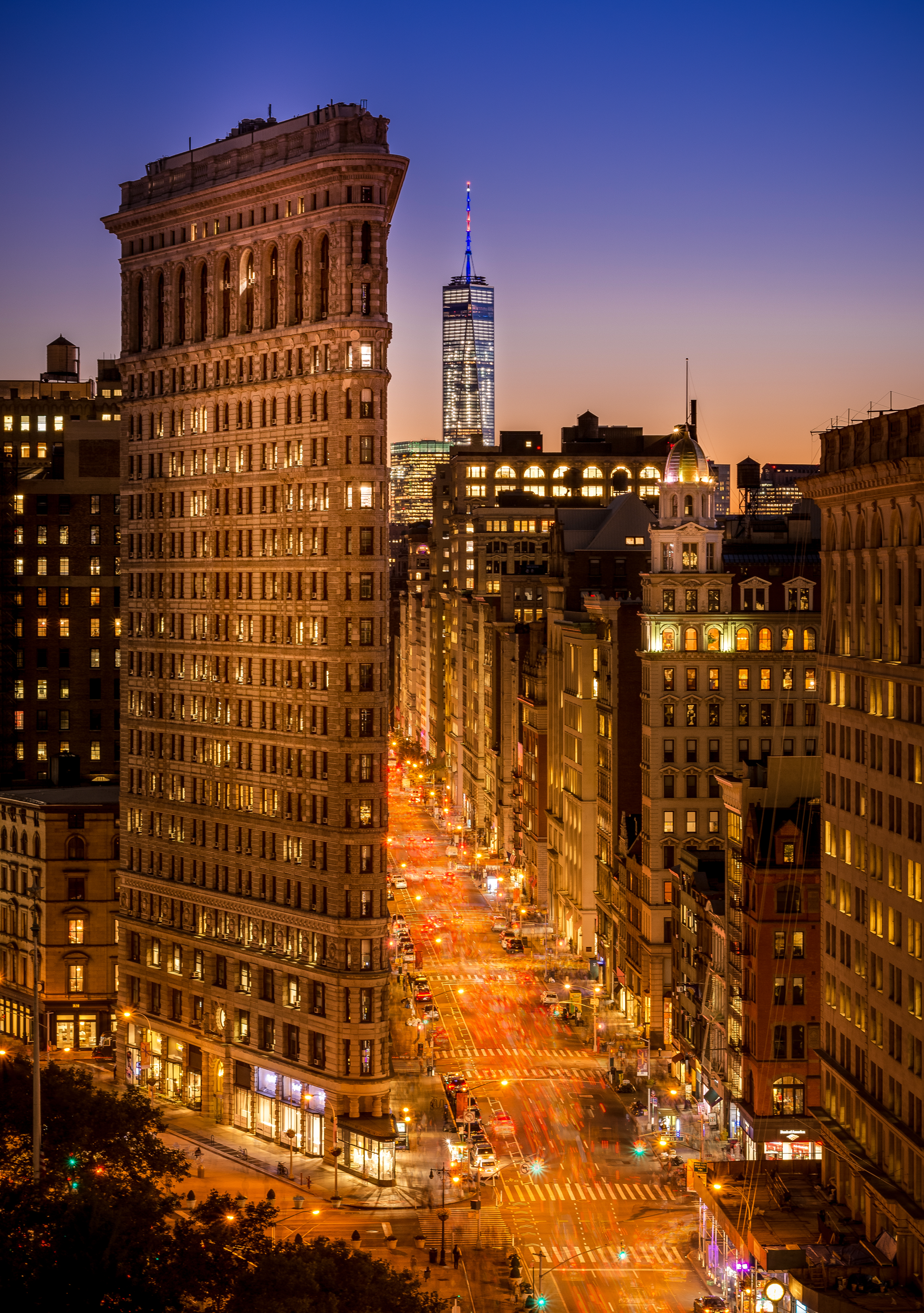 Flatiron Building and One World Trade