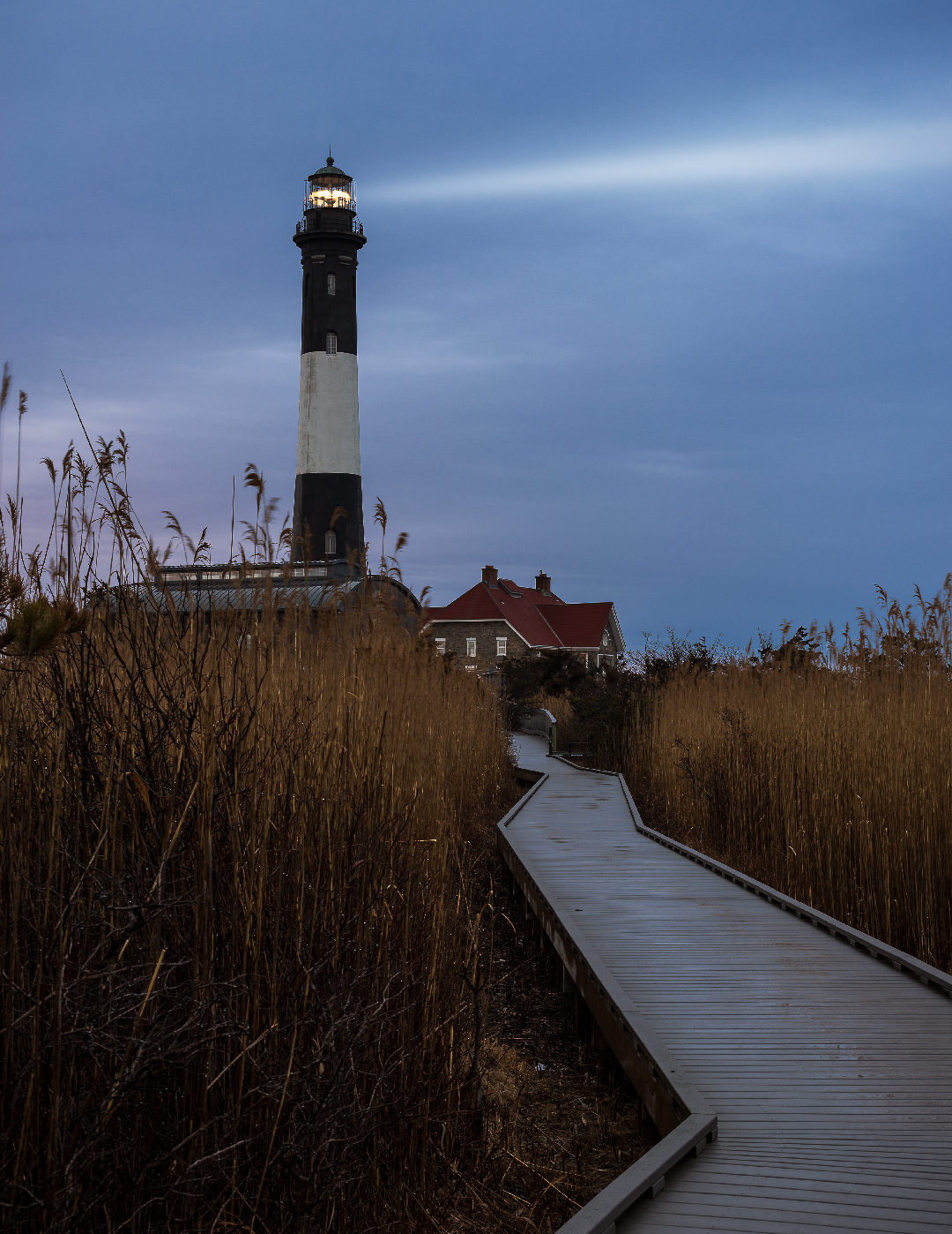 Fire Island Lighthouse at Twilight
