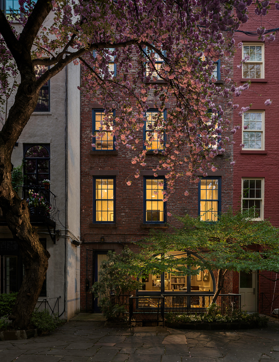 Greenwich Village Townhouse at Twilight