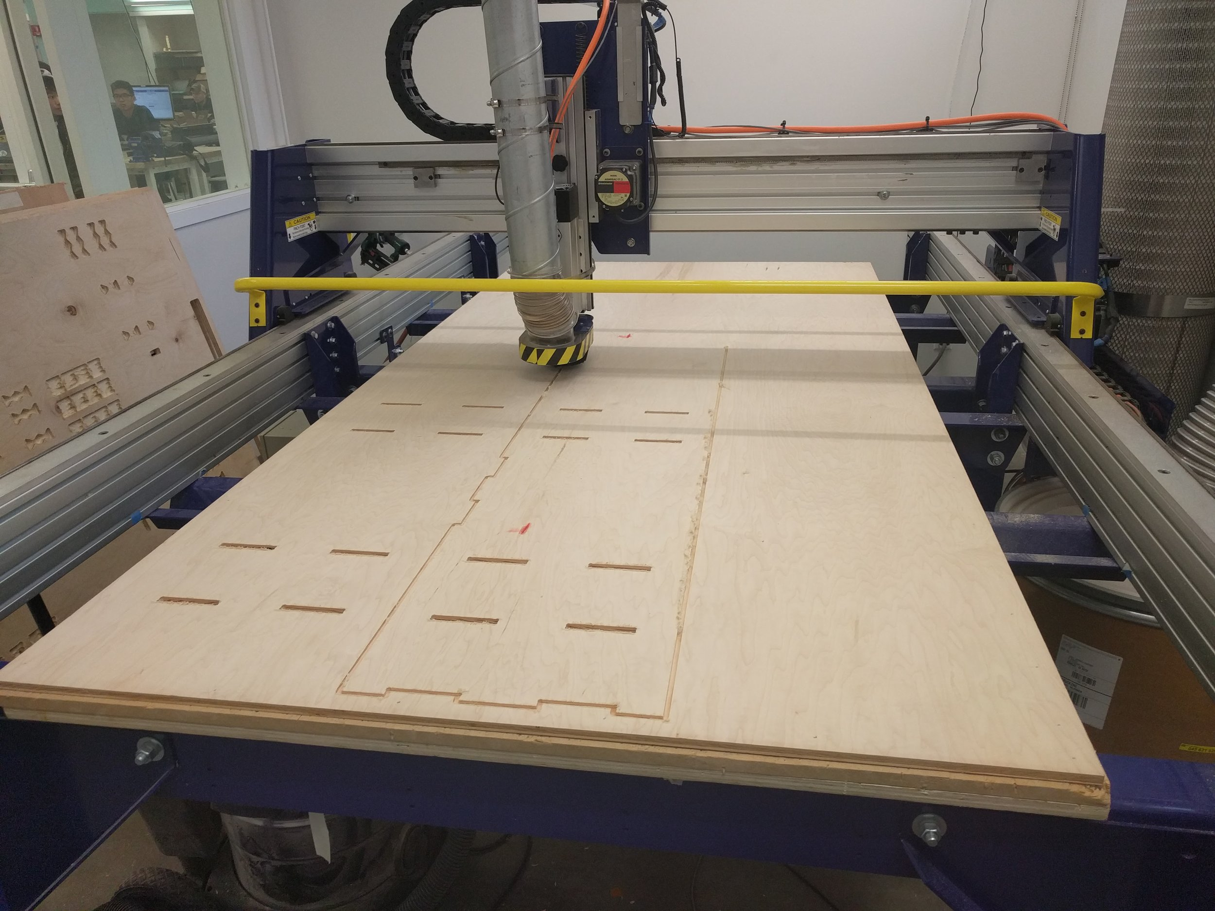 Milling in progress on a 4' x 8' Shopbot Router.